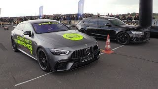 Decatted Audi RS6 C7 Avant vs Mercedes-AMG GT63 S 4MATIC+