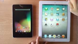 preview picture of video 'Asus Nexus 7 vS Apple iPad 3 [Short video comparison]'