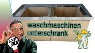 Profi Waschmaschinenunterschrank aus Stahl / Waschturm mit Schubladen