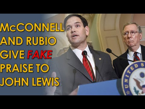 Mitch McConnell Gives FAKE Praise to John lewis; Marco Rubio confuses him for Elijah Cummings