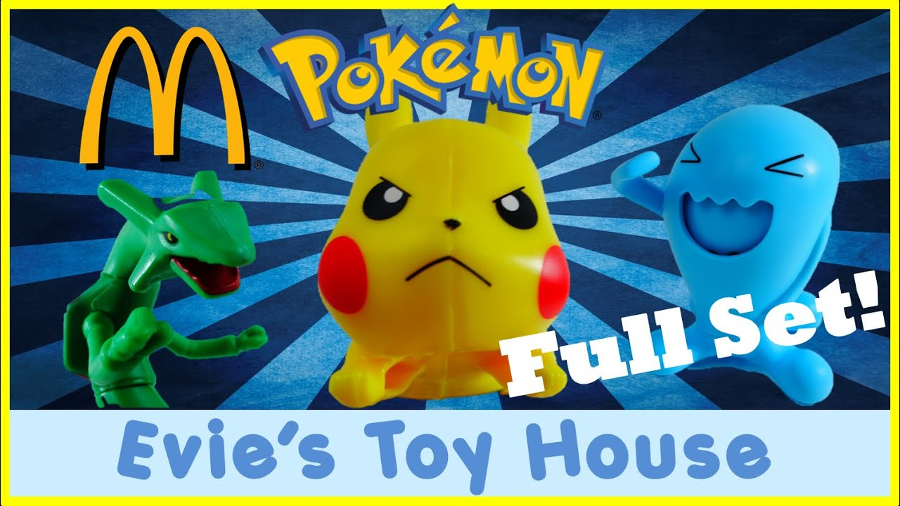 Pokemon 2015 Full Set McDonalds Happy Meal Toys | Evies Toy House
