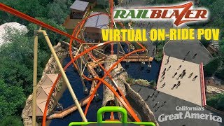RailBlazer RMC Raptor Virtual On-Ride POV - California's Great America 2018
