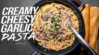 CREAMY CHEESY GARLIC PASTA | SAM THE COOKING GUY 4K