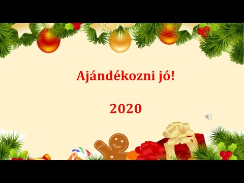 Ajándékozni jó! 2020