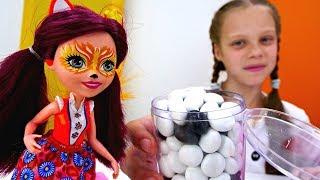 Игры для девочек. Конфеты для Энчантималс. Куклы в Салоне красоты