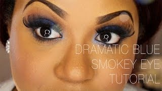 Dramatic Blue Smokey Eye Tutorial