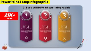 21.Create 3 Step ARROW SHAPE Infographic/PowerPoint Presentation/Graphic Design/Free Template