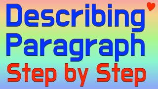 Write a  Describing Paragraph - Easy Writing Steps - EFL ESL Color Code