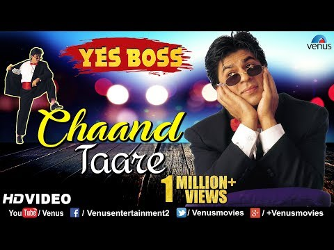Chaand Tare - HD VIDEO | Shah Rukh Khan & Juhi Chawla | Yes Boss | 90's Best Bollywood Songs