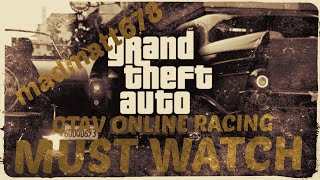 GTA5 funny moments in GTAV online racing and crashes with friends
