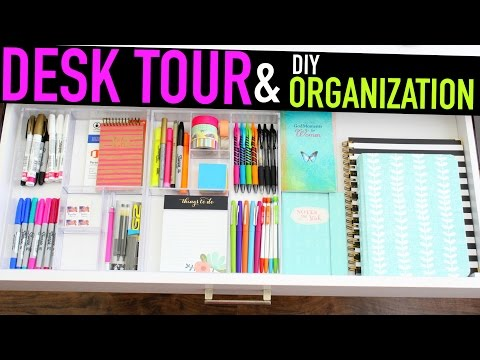 Desk Tour + DIY Organization
