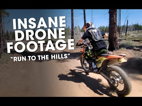 """Amazing Drone Footage - """"Run to the Hills"""" KTM EXC-F 350"""