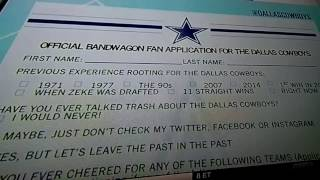 Official Bandwagon Fan Application FOR ALL BANDWAGON FANS / FAKE DALLAS COWBOY FANS