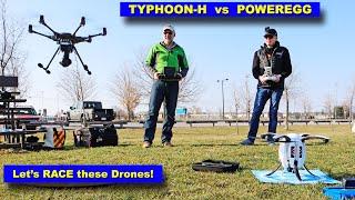 Yuneec Typhoon-H vs Powervision PowerEgg - The BIG Drone Race!