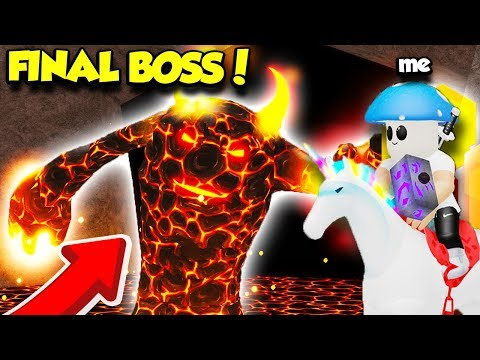 CHALLENGING THE FINAL MAGMA BOSS IN WIZARD SIMULATOR WITH LEGENDARY ITEMS! (Roblox)