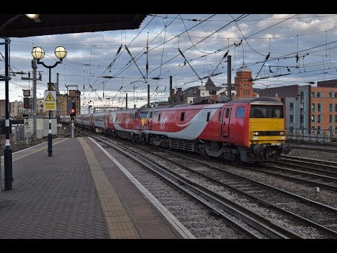 Virgin East Coast 91127 arrives at Newcastle blunt end first…