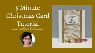 5 Minute Christmas Card Tutorial