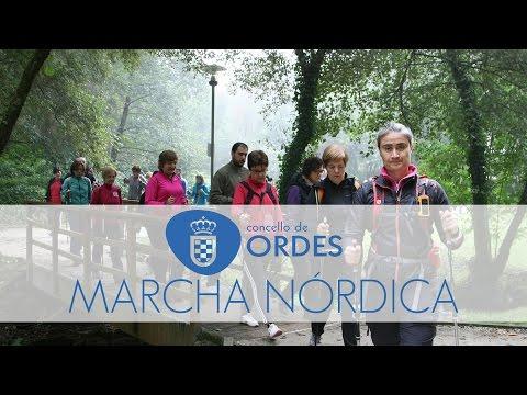 Marcha Nórdica no Concello de Ordes