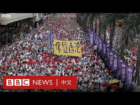 「一國兩制在走向死亡」香港百萬大遊行抗議修訂《逃犯條例》