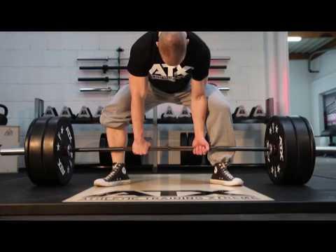 ATX Sumo Deadlift Barbell ATX-LH-50-DLB // Weight Gym Plates