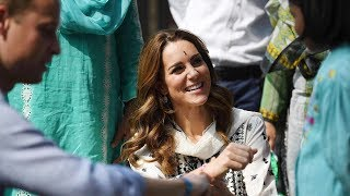 video: Duchess of Cambridge returns to children's orphanage in Pakistan after flight was grounded in storm
