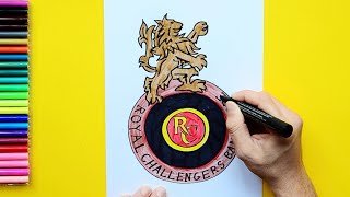 How to draw the Royal Challengers Bangalore Logo