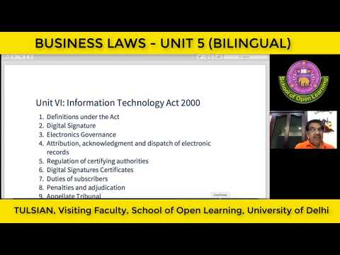 BUSINESS LAWS - UNIT 5 (BILINGUAL) By - R P TULSIAN