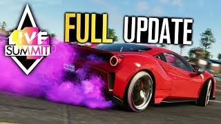 The Crew 2 - LIVE SUMMIT, ALL New Cars, Tires, Smoke & MORE! (Hot Shots Update)