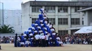 閲覧注意中学の体育祭のピラミッドで大事故発生!!!落下し