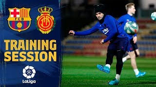 Amazing goal by Luis Suárez at Friday's training  session
