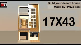 Latest House Design Idea for 18x50 feet two sided plot  - hmong video