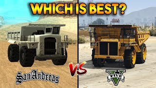 GTA 5 DUMP VS GTA SAN ANDREAS DUMPER : WHICH IS BEST?