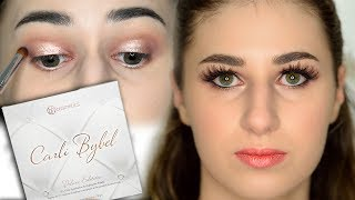 Purple Halo Eyes Using Carli Bybel Deluxe Palette - Video Youtube