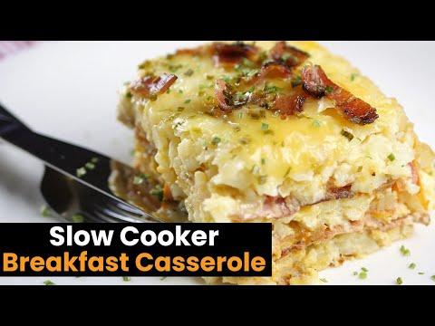 Video Delicious Slow Cooker Breakfast Caserole