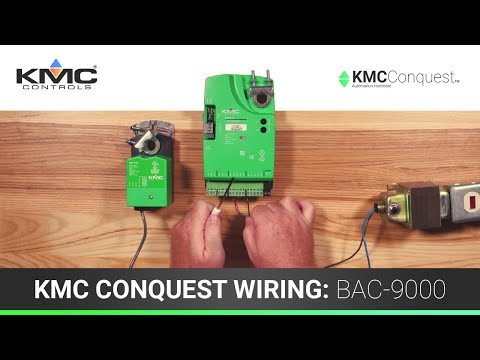 KMC Conquest Wiring: BAC-9000 Series Controllers