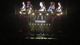 """Breanna playing """"10,000 Reasons"""" with Chris Tomlin 'Worship Night in America' Charlotte, NC"""