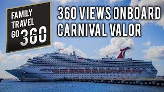 360 Degree VR Views onboard the Carnival Valor Cruise Ship - GoPro Fusion 360 video