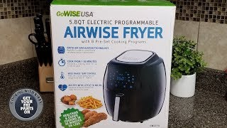 Airwise Fryer from Gowise USA - Gowise USA Air Fryer - Review and How to use it