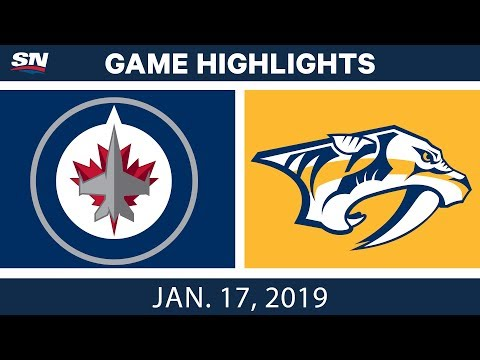 NHL Highlights | Jets vs. Predators - Jan. 17, 2019