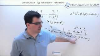 Limita funkce - Typ nekonečno - nekonečno 4. 2. 2015