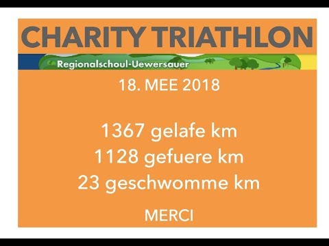 Charity Triathlon den 11. Mee 2018