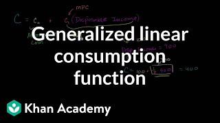 Generalized Linear Consumption Function