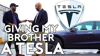 I Surprised My Brother with a Tesla   Being with Babish