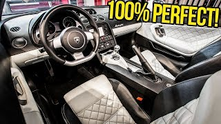 Here's How I Made My Cheap Lambo's Ugly Interior Look BRAND NEW For FREE!