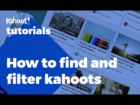Download How to find and filter games of Kahoot! Mp4 HD Video and MP3