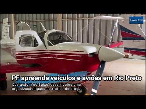Aeronaves e um dos carros apreendidos em Rio Preto pela Polícia Federal: ao todo foram 15 aviões localizados com a quadrilha e 11 presos em cinco Estados