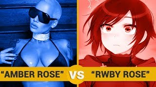 AMBER ROSE VS RWBY ROSE - Google Trends Show