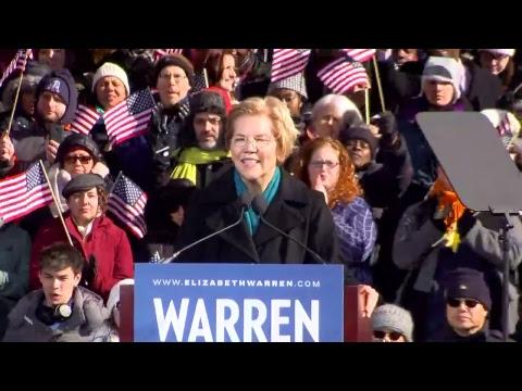 Sen Elizabeth Warren Officially Announces Her 2020 Presidential Candidacy Time