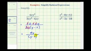 Ex 3:  Simplify Rational Expressions