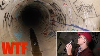 EXPLORING A SCARY HAUNTED TUNNEL AT 3AM (We Found This...) (Holy Sh*t)